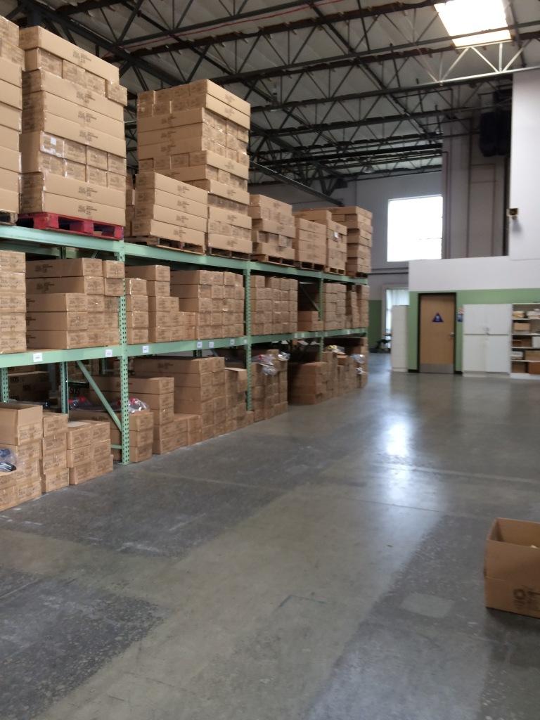 Organized warehouse.