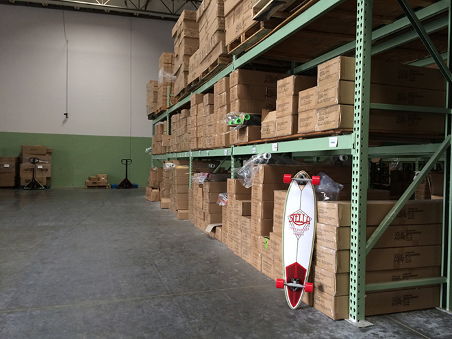 Organized warehouse with new 2015 models