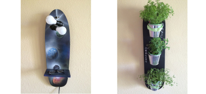 Skateboard Art - Planet - Herb Garden
