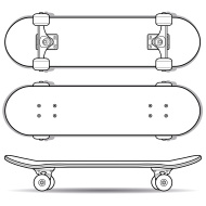 longboard truck template - want to start with skateboarding with the right board