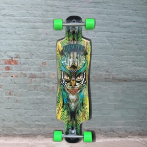 Gravity twin kick midnight thief longboard