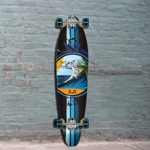 Yocaher wave kicktail longboard punked